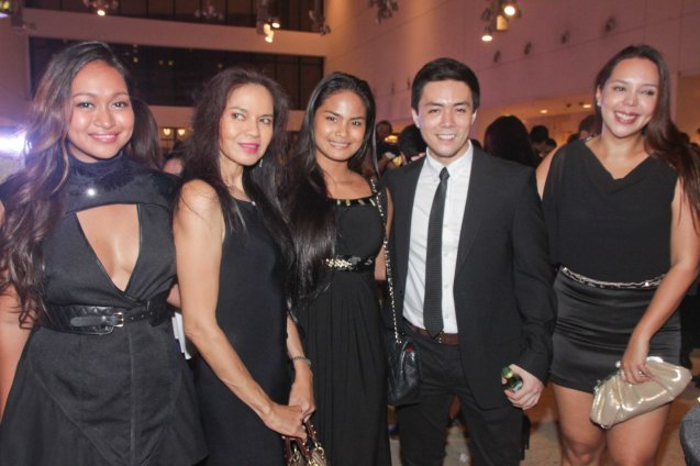 Stars from left: Mercedes Cabral, Maria Isabel Loopez, Althea Vega, Lance Raymundo and Alma Concepcion. The 19th French Film Fest will run from June 10-16, 2014 at Greenbelt 3 Cinema 1, tickets are at 100 pesos. Photo by Jude Bautista
