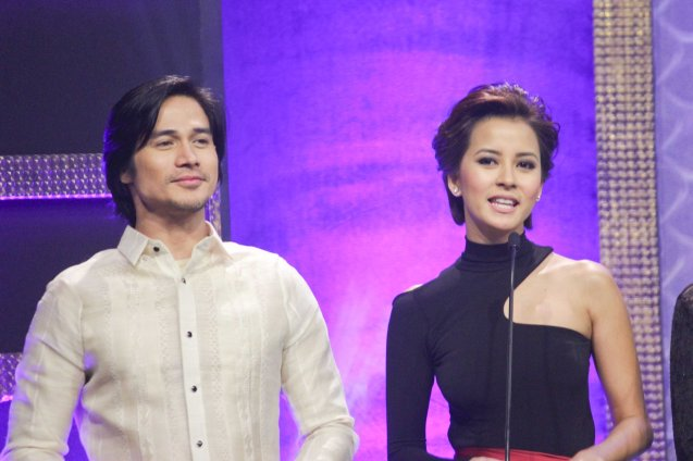 Hosts Piolo Pascual (OTJ) & Bianca Gonzalez during the 37th Gawad Urian Awards held at the Dolphy Theater last June 17, 2014. Photo by Jude Bautista