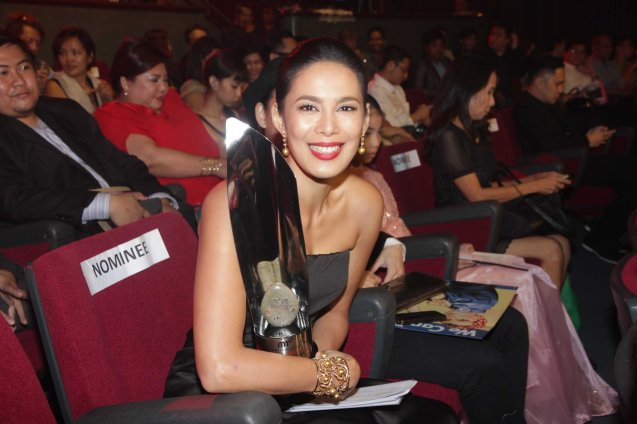 Ravishing Best Supporting Actress Angel Aquino (ANG HULING CHACHA NI ANITA). The 37th Gawad Urian Awards was held at the Dolphy Theater last June 17, 2014. Photo by Jude Bautista.