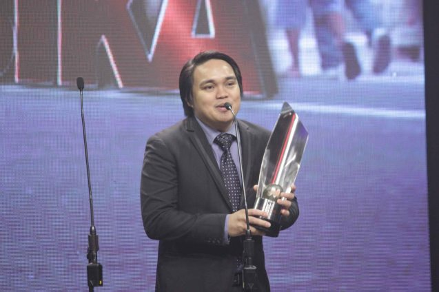 Emerson Texon (Best Music--SONATA) during the 37th Gawad Urian Awards held at the Dolphy Theater last June 17, 2014. Photo by Jude Bautista.