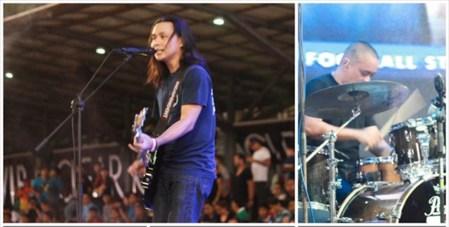 Rivermaya kept the energy high at halftime. THE CLEAR DREAM MATCH was held at the sold out University of Makati Stadium last June 7, 2014. Photo by Jude Bautista