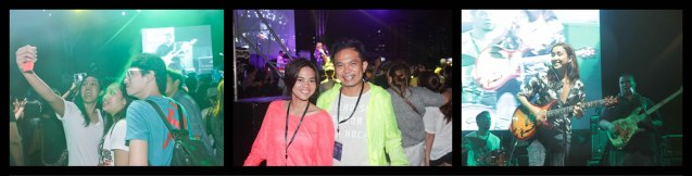 from left: fans take selfies, Metropolitan Museum Public Affairs Grace Cayanan and French Audio Visual Attache Martin Macalintal and Barbie Almalbis at the Plaza Maestranza Intramuros stage. Fete Dela Musique 2014 had 200 acts in more than 20 different locations last June 21, 2014. Photo by Jude Bautista