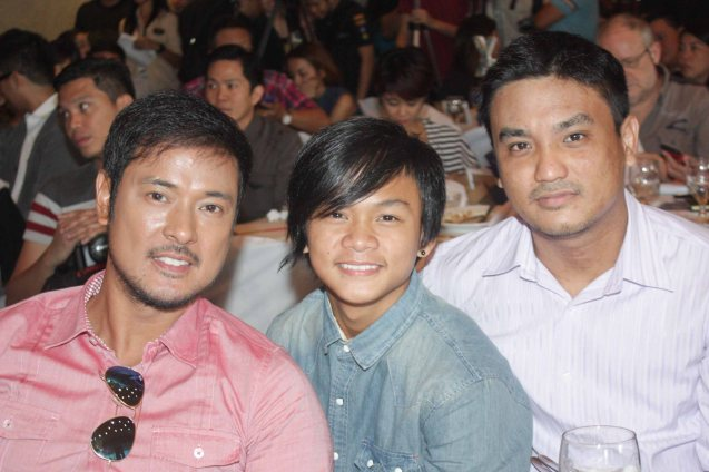 CHILDREN'S SHOW stars from left: Allen Dizon, Buboy Villar & Derrick Gabrido. Cinemalaya X running from August 1-10, 2014 in CCP will have satellite venues: Greenbelt, Alabang Town Center, Trinoma and Fairview Terraces. Photo by Jude Bautista.