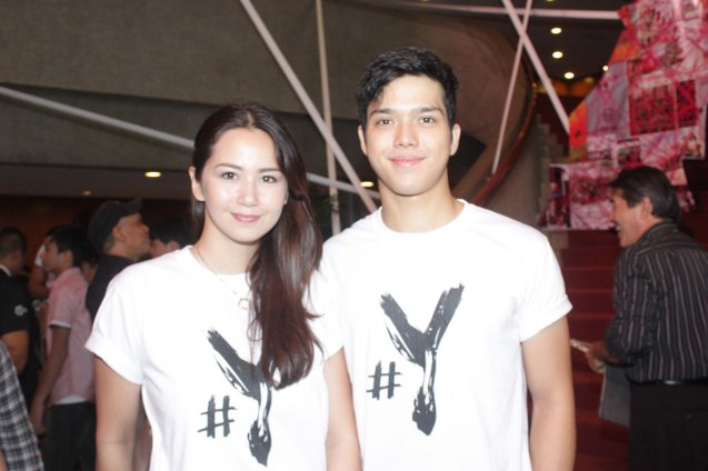 #Y stars Sophie Albert & Elmo Magalona Cinemalaya X running from August 1-10, 2014 in CCP will have satellite venues: Greenbelt, Alabang Town Center, Trinoma and Fairview Terraces. Photo by Jude Bautista.