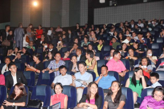 It was a full house for the opening film HOMELAND. The Eiga Sai Japanese Film Festival will screen films for free from July 4 to 13, 2014 at the Shang Cineplex, Shang Rila Plaza Mall. Photo by Jude Bautista