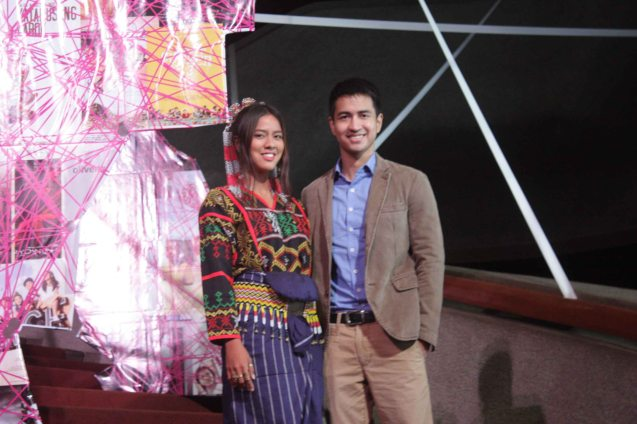 K'NA THE DREAMWEAVER lead stars: Mara Lopez as K'Na & RK Bagatsing as Silaw. Cinemalaya X running from August 1-10, 2014 in CCP will have satellite venues: Greenbelt, Alabang Town Center, Trinoma and Fairview Terraces. Photo by Jude Bautista.