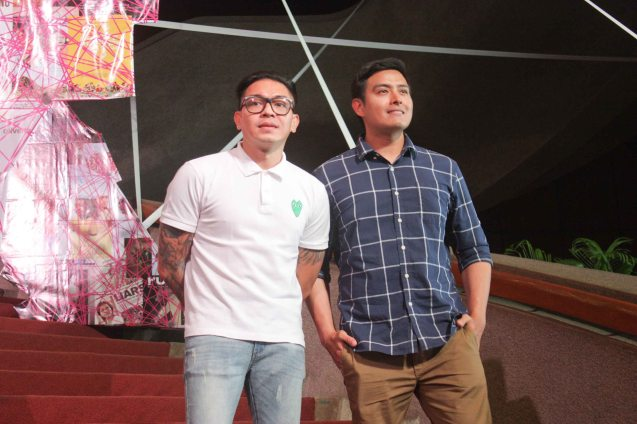 S6PARADOS director GB Sampedro & lead actor Alex Vargas. Cinemalaya X running from August 1-10, 2014 in CCP will have satellite venues: Greenbelt, Alabang Town Center, Trinoma and Fairview Terraces. Photo by Jude Bautista.
