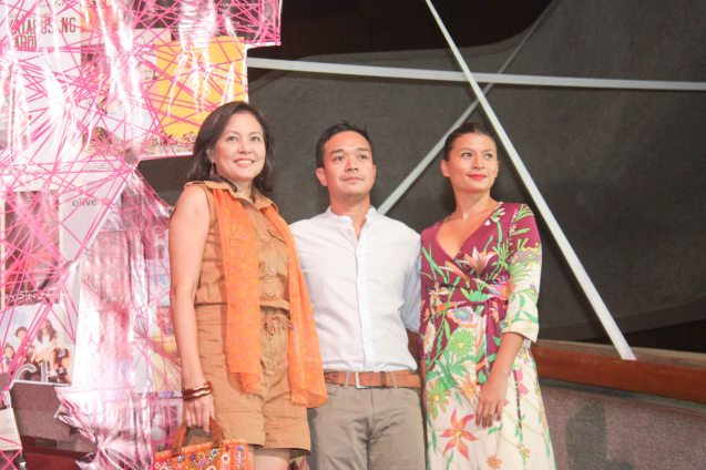 MARIQUINA cast from left: Bing Pimentel (Tess), Director Milo Sogueco and Mylene Dizon (Imelda). Cinemalaya X running from August 1-10, 2014 in CCP will have satellite venues: Greenbelt, Alabang Town Center, Trinoma and Fairview Terraces. Photo by Jude Bautista.