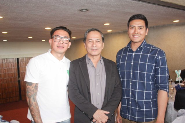 S6PARADOS from left: Director GB Sampedro, Cinemalaya Pres. Nestor Jardin and Alex Vargas. Cinemalaya X running from August 1-10, 2014 in CCP will have satellite venues: Greenbelt, Alabang Town Center, Trinoma and Fairview Terraces. Photo by Jude Bautista.
