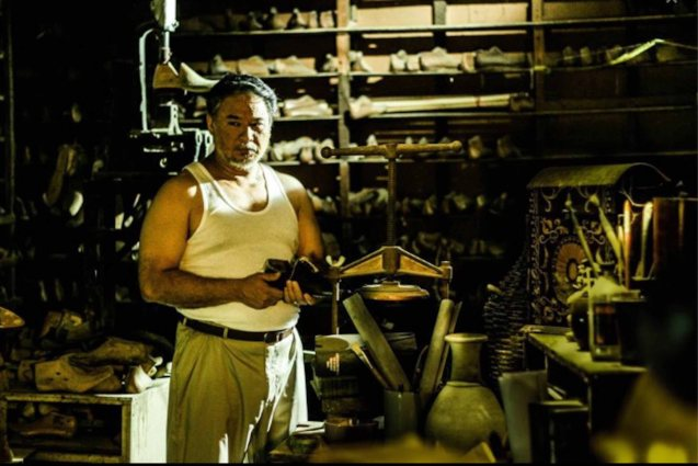 Ricky Davao plays shoemaker Romeo Guevarra in MARIQUINA. Cinemalaya X running from August 1-10, 2014 in CCP will have satellite venues: Greenbelt, Alabang Town Center, Trinoma and Fairview Terraces.