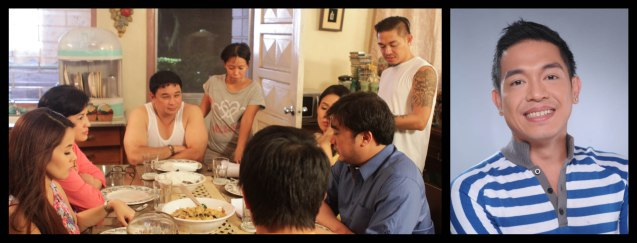 S6parados from right: director GB Sampedro, discusses dinner scene with cast. Cinemalaya X running from August 1-10, 2014 in CCP will have satellite venues: Greenbelt, Alabang Town Center, Trinoma and Fairview Terraces.