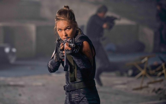 UFC Women's Bantamweight Champ Ronda Rousey is even hotter with a gun. She also has 2 more films FAST & FURIOUS7 and ENTOURAGE both set for 2015. She is also being considered as lead in THE ATHENA PROJECT. Catch EXPENDABLES3 in Resort's World Manila, Eastwood Mall and Lucky Chinatown Mall.