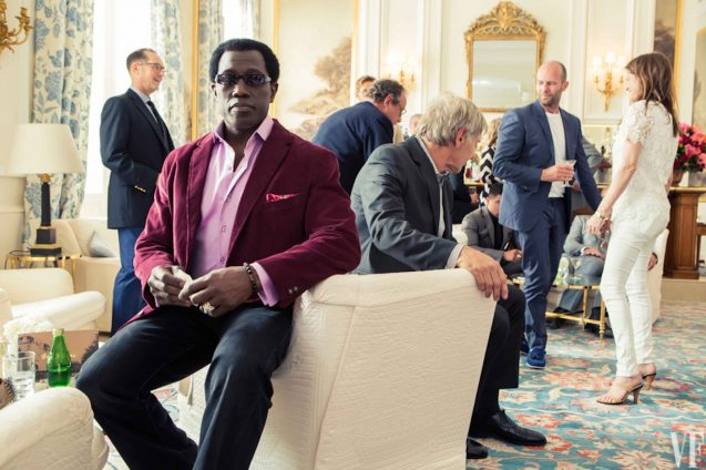 Wesley Snipes was cast in the original EXPENDABLES but missed it because he was incarcerated for Tax evasion. Photo from Vanity Fair shoot. Catch EXPENDABLES3 in Resort's World Manila, Eastwood Mall and Lucky Chinatown Mall.