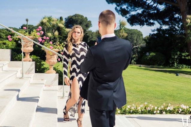 Glenn Powell turns into a fan and shoots Ronda Rousey with his i-phone5. Photo from Vanity Fair shoot. Catch EXPENDABLES3 in Resort's World Manila, Eastwood Mall and Lucky Chinatown Mall.