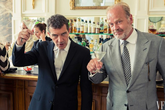 Antonio Banderas and Kelsey Grammer toast their casting. Photo from Vanity Fair shoot. Catch EXPENDABLES3 in Resort's World Manila, Eastwood Mall and Lucky Chinatown Mall.