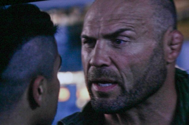 (Toll Road) Randy Couture's Cauliflower ear makes him stand out as an MMA fighter. Catch EXPENDABLES3 in Resort's World Manila, Eastwood Mall and Lucky Chinatown Mall.
