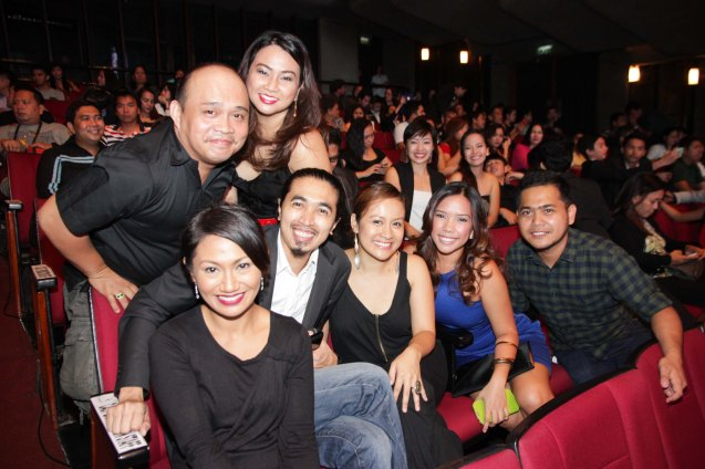 SUNDALONG KANIN cast: standing Jelson Bay w Executive Producer Shiela Ambray, Reg De Vera and Diana Alferez seated from left Urian Best Actress Angeli Bayani, Max Celada, Sheenly Gener, Mara Marasigan and DOP Dexter Dela Peña.  The Cinemalaya X Awards was held last August 10, 2014 at the CCP. Watch out for Cinemalaya films' commercial release in the coming months. Photo by Jude Bautista