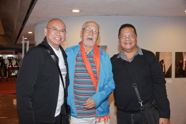 Audience Choice Director's Showcase awardee-HUSTISYA cast from left: Bernardo Bernardo, Tony Mabesa and direk Joel Lamangan. Watch out for Cinemalaya films' commercial release in the coming months. Photo by Jude Bautista