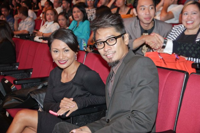 BWAYA lead stars: Urian Best actress Angeli Bayani and Karl Medina during the Cinemalaya X Awards last August 10, 2014 at the CCP. Watch out for Cinemalaya films' commercial release in the coming months. Photo by Jude Bautista