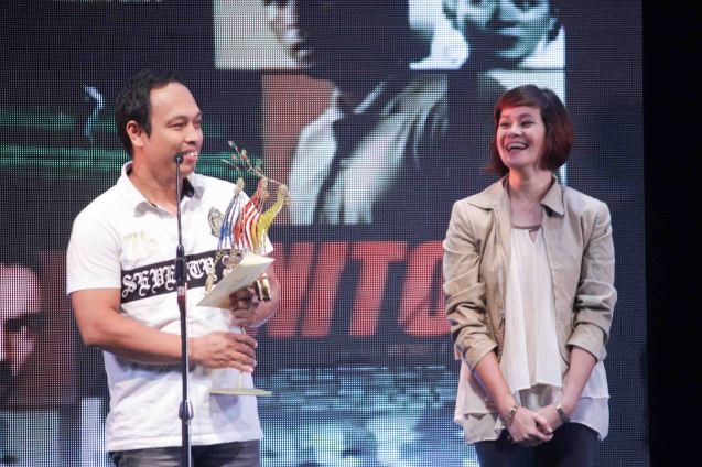Best Sound Director's Showcase-Mike Idioma THE JANITOR. The Cinemalaya X Awards was held last August 10, 2014 at the CCP. Watch out for Cinemalaya films' commercial release in the coming months. Photo by Jude Bautista