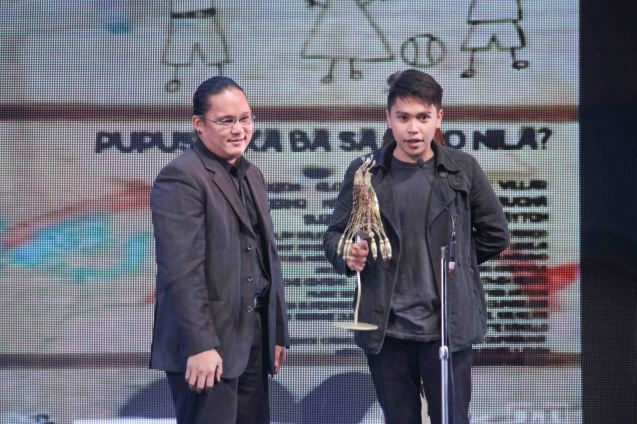 Best Editing New Breed award Gerone Centena CHILDREN'S SHOW. The Cinemalaya X Awards was held last August 10, 2014 at the CCP. Watch out for Cinemalaya films' commercial release in the coming months. Photo by Jude Bautista