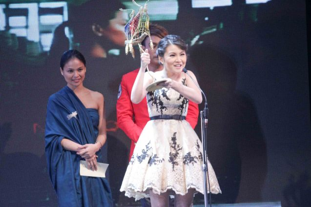 Best Supporting Actress New Breed Barbie Forteza MARIQUINA. The Cinemalaya X Awards was held last August 10, 2014 at the CCP. Watch out for Cinemalaya films' commercial release in the coming months. Photo by Jude Bautista