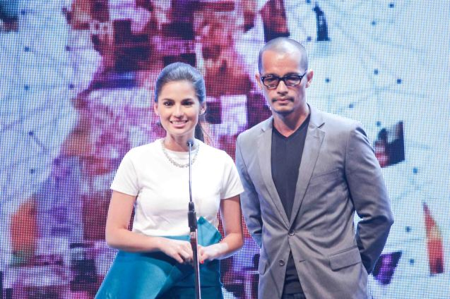 Previous awardees/presenters Jasmine Curtis Smith and Art Acuña. The Cinemalaya X Awards was held last August 10, 2014 at the CCP. Watch out for Cinemalaya films' commercial release in the coming months. Photo by Jude Bautista
