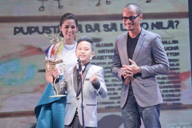 Best Supporting Actor New Breed Miggs Cuaderno CHILDREN'S SHOW. The Cinemalaya X Awards was held last August 10, 2014 at the CCP. Watch out for Cinemalaya films' commercial release in the coming months. Photo by Jude Bautista