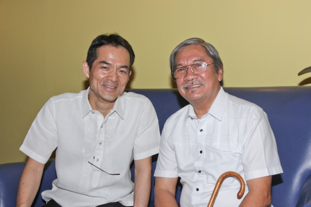 from left: Japan Foundation Dir. Shuji Takatori and FDCP Exec Dir. Teddy Granados. Catch Silent films for free with live scoring by the hottest bands at the Intl Silent Film Fest at Shang Cineplex, Shang Rila Plaza Mall from Aug 28-31, 2014. Photo by Jude Bautista