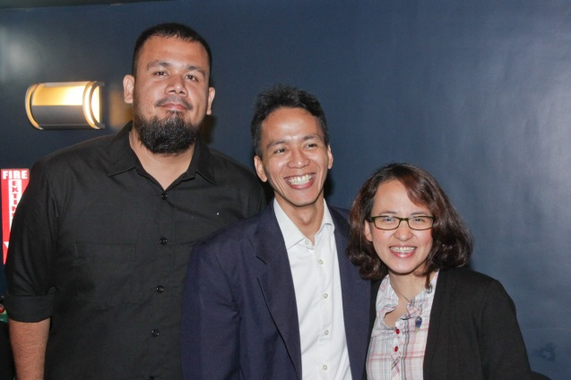 from left: Rotsanjani Mojica (KAAPIN), Japan Foundation Proj. Coordinator Rolando Samson and Sharlene Bareng. Catch Silent films for free with live scoring by the hottest bands at the Intl Silent Film Fest at Shang Cineplex, Shang Rila Plaza Mall from Aug 28-31, 2014. Photo by Jude Bautista