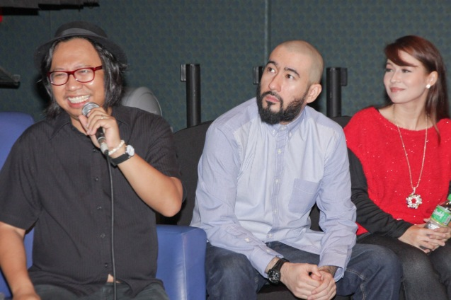 from left: Francis De Veyra (RADIOACTIVESAGO PROJECT), Caliph8 and Fame Flores. Catch Silent films for free with live scoring by the hottest bands at the Intl Silent Film Fest at Shang Cineplex, Shang Rila Plaza Mall from Aug 28-31, 2014. Photo by Jude Bautista