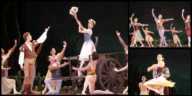 Main photo: Stella Abrera is Giselle with crown of flowers, bottom right: Carissa Adea (Moyna). Ballet Philippines' 45th year was celebrated with a special staging of GISELLE from September 19, 20 & 21, 2014 at the CCP Tanghalang Nicanor Abelardo. Photo by Jude Bautista
