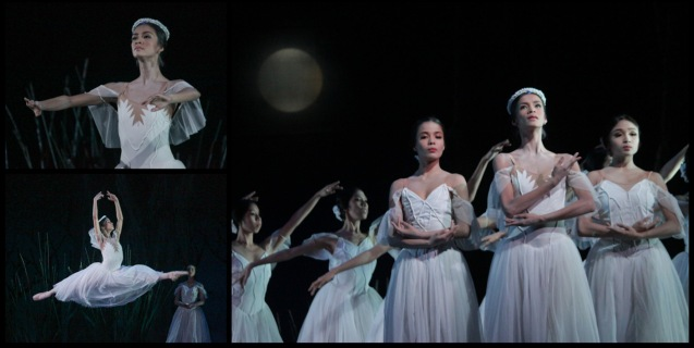 top and bottom left: Rita Angela Winder (Queen Myrtha) Main photo from left: Carissa Adea (Moyna), Rita Angela Winder (Queen Myrtha) and Jemima Sanielle Reyes (Zulme). Ballet Philippines' 45th year was celebrated with a special staging of GISELLE from September 19, 20 & 21, 2014 at the CCP Tanghalang Nicanor Abelardo. Photo by Jude Bautista