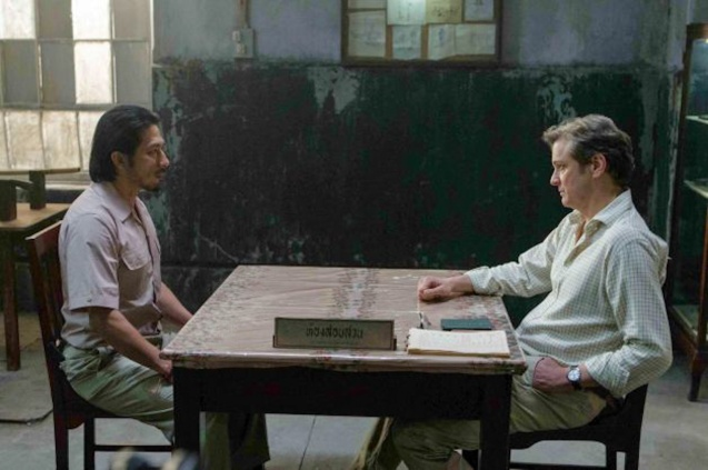from left: Hiroyuki Sanada (Takeshi Nagase) and Colin Firth (Eric Lomax) THE RAILWAY MAN can be seen in Megaworld Lifestyle Malls such as Resort's World Manila, Eastwood Malls, and Lucky Chinatown Mall starting September 24, 2014.