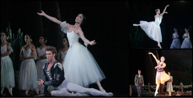 from left: James Whiteside (Albrecht) & Stella Abrera (Giselle) top right Rita Angela Winder (Queen Myrtha) and bottom right: Jemima Sanielle Reyes (Zulme). Ballet Philippines' 45th year was celebrated with a special staging of GISELLE from September 19, 20 & 21, 2014 at the CCP Tanghalang Nicanor Abelardo. Photo by Jude Bautista