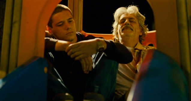 from right Fabrizio Bentivoglio (Bruno) gives Filippo Scicchitano (Luca) long delayed life lessons. Cine Europa will screen SCIALLA and the best European movies for free at Shang Cineplex, Shang Rila Plaza from September 11-21, 2014.