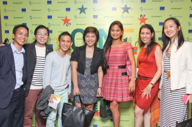 from right: Swiss Emb Sr. Proj Officer & Asst Head of Mission Diana Chan, PIA Officer Cristina Moricca, METROMANILA/DEMENTIA actress Althea Vega, French Press Attaché Camille Conde, Cyril Constatino, Writer Adrian Lontoc and Japan Foundation Proj Coordinator Roland Samson. Cine Europa will screen SCIALLA and the best European movies for free at Shang Cineplex, Shang Rila Plaza from September 11-21, 2014. Photo by Jude Bautista