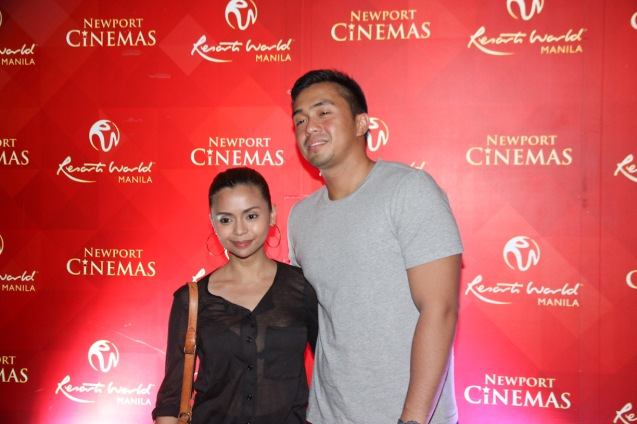 PBA Courtside Reporter Rizza Diaz and long time boy friend Rex Bacud. THE RAILWAY MAN can be seen in Megaworld Lifestyle Malls such as Resort's World Manila, Eastwood Malls, and Lucky Chinatown Mall starting September 24, 2014. Photo by Jude Bautista