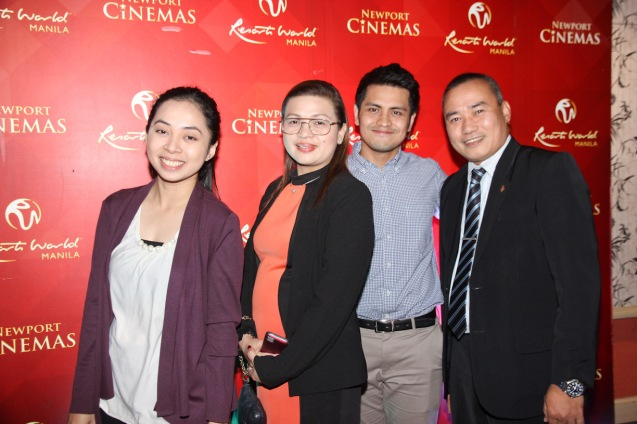 from left: RWM Sponsorship Officer Maribelle Aure, RWM Dir Sponsorships & Partnerships Anna Chua, RWM Mgr Sponsorships & Partnerships Brian Villanueva and RWM F&B Mgr Arman Dela Paz. THE RAILWAY MAN can be seen in Megaworld Lifestyle Malls such as Resort's World Manila, Eastwood Malls, and Lucky Chinatown Mall starting September 24, 2014. Photo by Jude Bautista