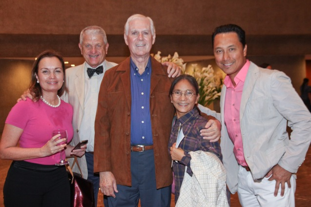from left: BP Pres. Margie Moran, BP Trustee Richard Upton, former BP Artistic Director Norman Walker, former BP member (1979-1994) Perry Sevidal and Elmer Porte. Ballet Philippines' 45th year was celebrated with a special staging of GISELLE from September 19, 20 & 21, 2014 at the CCP Tanghalang Nicanor Abelardo. Photo by Jude Bautista