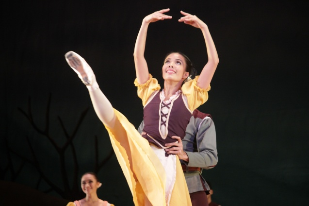 Carissa Adea (Peasant Pas De Quatre). Ballet Philippines' 45th year was celebrated with a special staging of GISELLE from September 19, 20 & 21, 2014 at the CCP Tanghalang Nicanor Abelardo. Photo by Jude Bautista