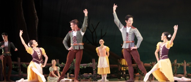 PEASANT PAS DE QUATRE from left: Jemima Reyes, Emmanuel Guillermo, Victor Maguad & Carissa Adea. Ballet Philippines' 45th year was celebrated with a special staging of GISELLE from September 19, 20 & 21, 2014 at the CCP Tanghalang Nicanor Abelardo. Photo by Jude Bautista
