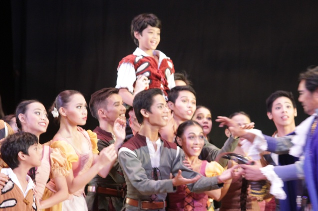 Peasant kids. Ballet Philippines' 45th year was celebrated with a special staging of GISELLE from September 19, 20 & 21, 2014 at the CCP Tanghalang Nicanor Abelardo. Photo by Jude Bautista
