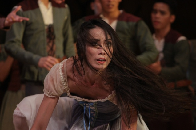 Stella Abrera (Giselle) mourns the loss of love. Ballet Philippines' 45th year was celebrated with a special staging of GISELLE from September 19, 20 & 21, 2014 at the CCP Tanghalang Nicanor Abelardo. Photo by Jude Bautista