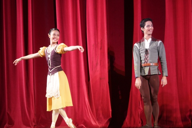 PEASANT PAS DE QUATRE from left: Carissa Adea & Victor Maguad. Ballet Philippines' 45th year was celebrated with a special staging of GISELLE from September 19, 20 & 21, 2014 at the CCP Tanghalang Nicanor Abelardo. Photo by Jude Bautista