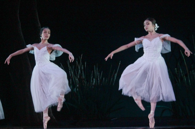 from left: Carissa Adea (Moyna) & Jemima Reyes (Zulme). Ballet Philippines' 45th year was celebrated with a special staging of GISELLE from September 19, 20 & 21, 2014 at the CCP Tanghalang Nicanor Abelardo. Photo by Jude Bautista