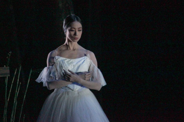 Stella Abrera (Giselle) reappears as a spirit. Ballet Philippines' 45th year was celebrated with a special staging of GISELLE from September 19, 20 & 21, 2014 at the CCP Tanghalang Nicanor Abelardo. Photo by Jude Bautista