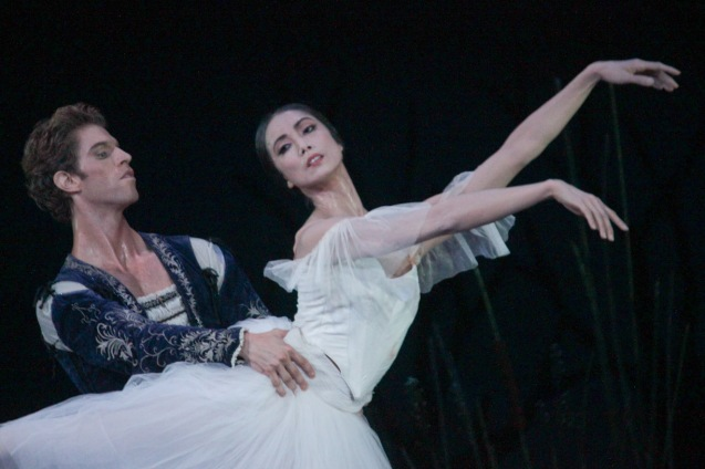 Stella Abrera (Giselle) & James Whiteside (Albrecht) are made for each other as partners on stage. Ballet Philippines' 45th year was celebrated with a special staging of GISELLE from September 19, 20 & 21, 2014 at the CCP Tanghalang Nicanor Abelardo. Photo by Jude Bautista