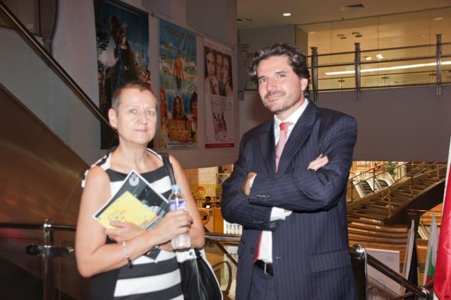 from left: Goethe Inst Dir. Dr. Petra Raymond and EU Political Counselor Dr. Julian Vassallo. Cine Europa will screen the best European movies for free at Shang Cineplex, Shang Rila Plaza from September 11-21, 2014. Photo by Jude Bautista.