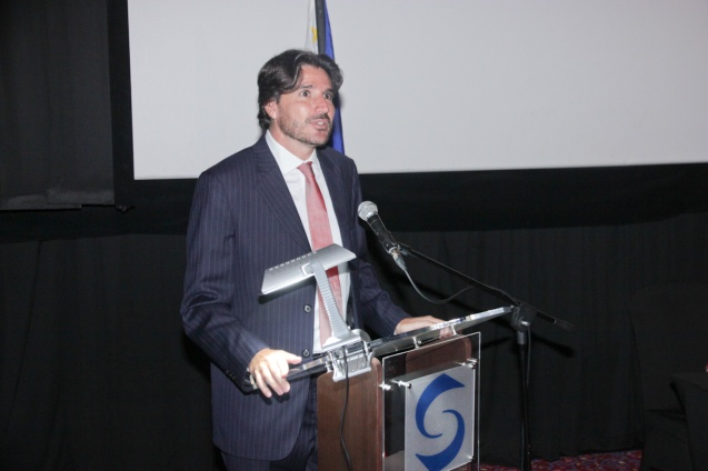 EU Delegation Political Counselor Dr. Julian Vassallo. Cine Europa will screen the best European movies for free at Shang Cineplex, Shang Rila Plaza from September 11-21, 2014. Photo by Jude Bautista.